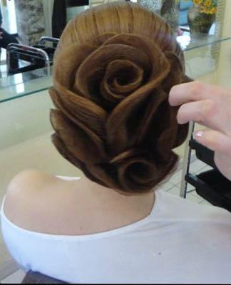 Как сделать розу на волосах